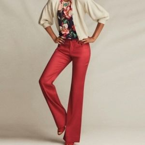 Cabi 5503R Linen Blend Red Trouser Size 4